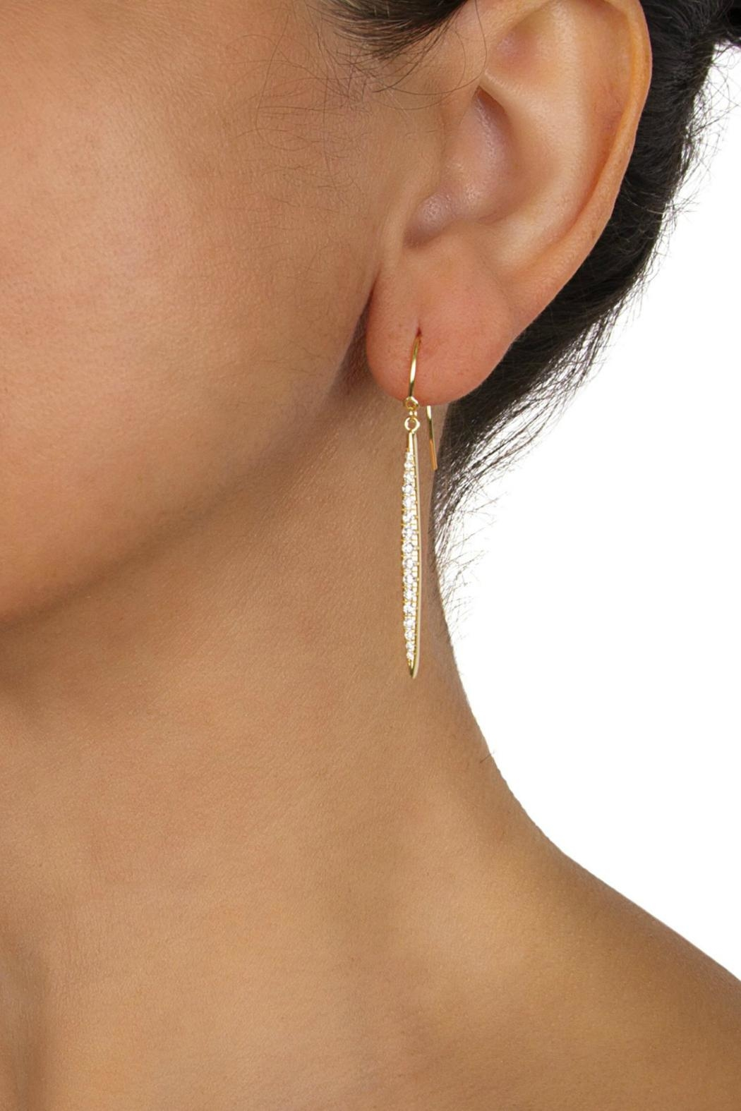 Gemma Collection Pave Marquise Earrings - Front Full Image