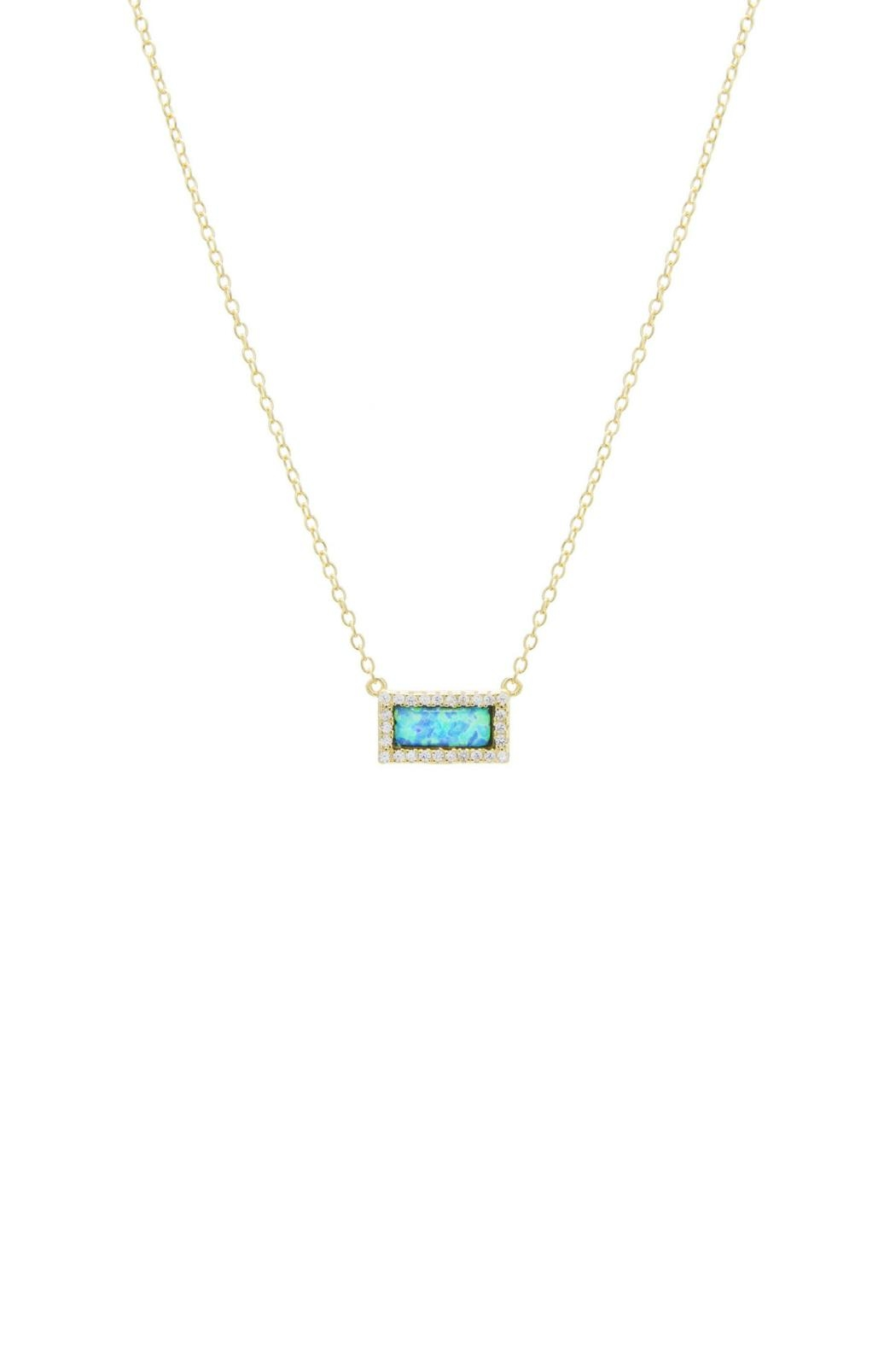 Gemma Collection Pave Opal Necklace - Main Image