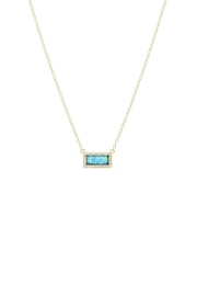 Gemma Collection Pave Opal Necklace - Front cropped