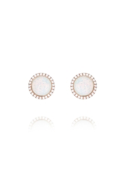Gemma Collection Pave Opal Studs - Product Mini Image