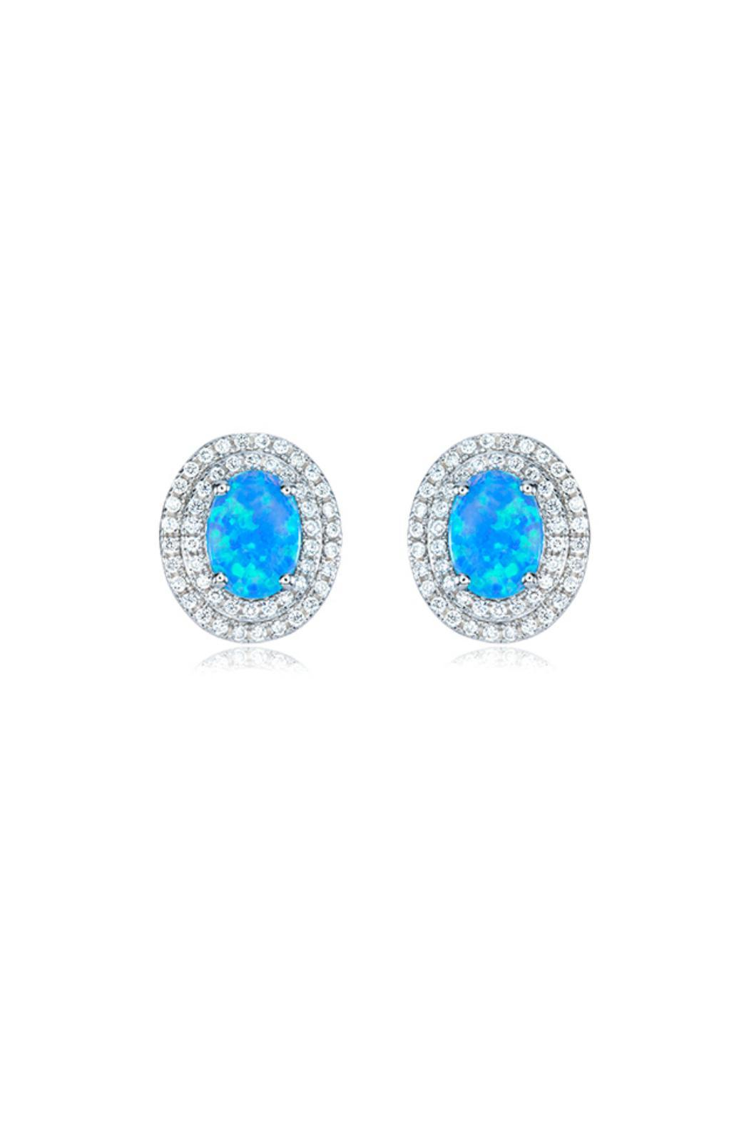 Gemma Collection Pave Opal Studs - Main Image