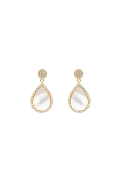 Shoptiques Product: Pave Pearl Earrings