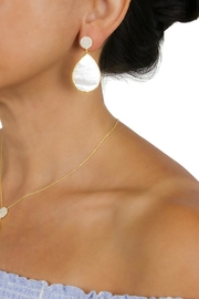 Gemma Collection Pave Pearl Earrings - Front full body