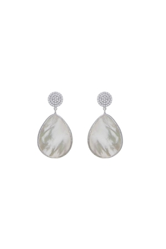 Gemma Collection Pave Pearl Earrings - Product List Image