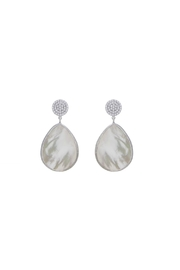 Gemma Collection Pave Pearl Earrings - Front cropped