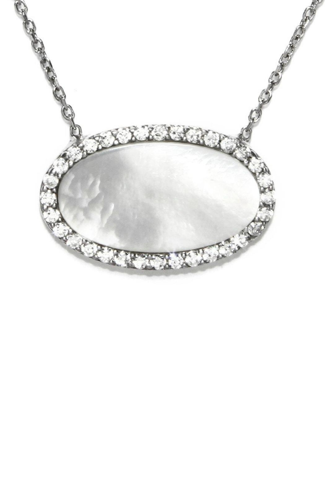Gemma Collection Pave Pearl Necklace - Main Image