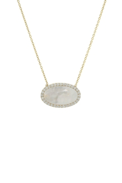 Gemma Collection Pave Pearl Necklace - Product List Image