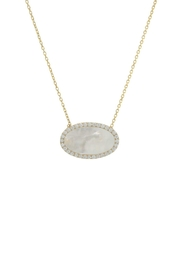 Gemma Collection Pave Pearl Necklace - Front cropped