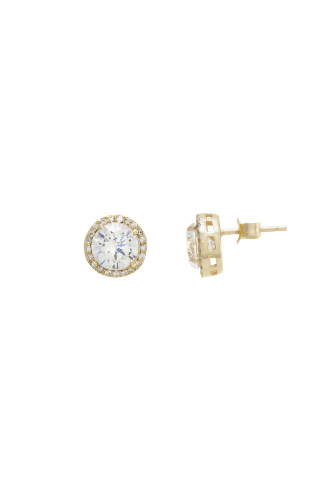 Gemma Collection Pave Solitaire Studs - Main Image