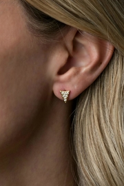 Gemma Collection Pave Spike Stud Earrings - Front full body