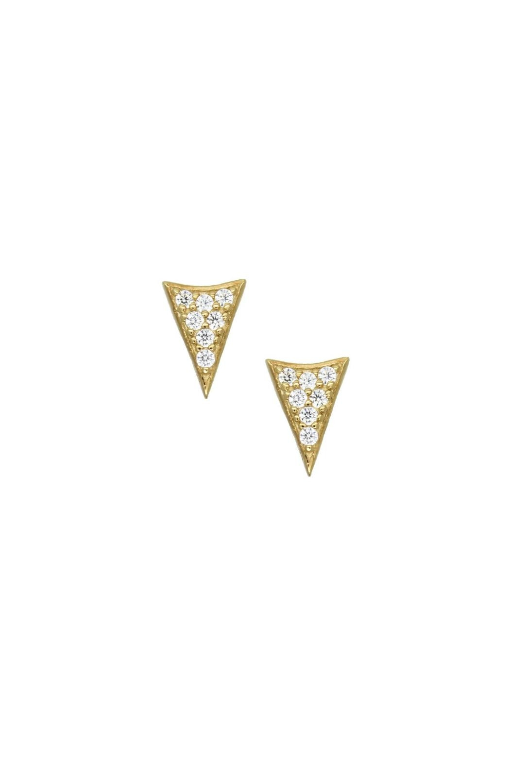 Gemma Collection Pave Spike Stud Earrings - Main Image