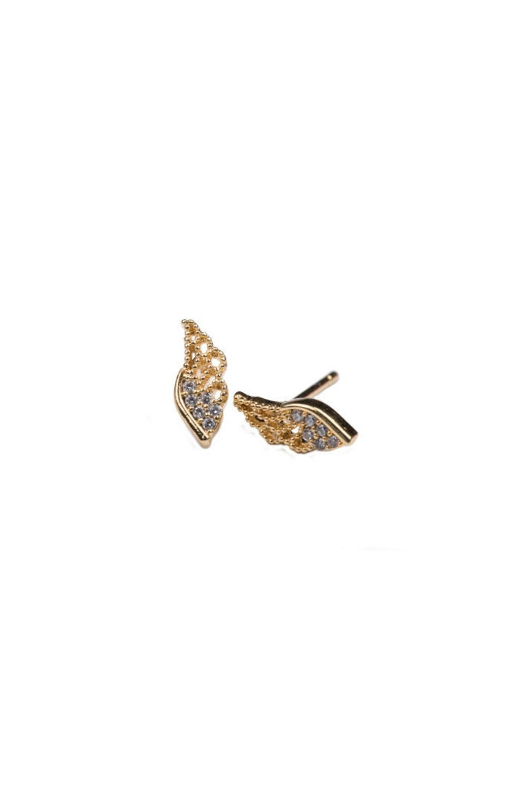 Gemma Collection Pave Wing Studs - Front Cropped Image
