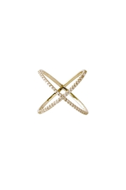 Gemma Collection Pave X Ring - Product Mini Image