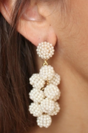 Gemma Collection Pearl Ball Earrings - Product Mini Image