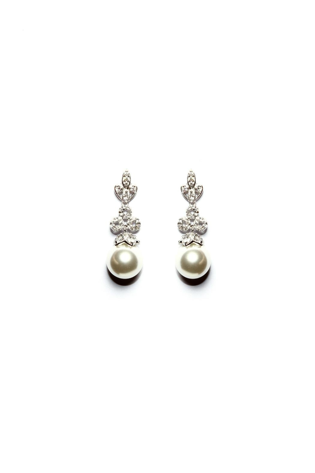 Gemma Collection Pearl Drop Earrings - Main Image