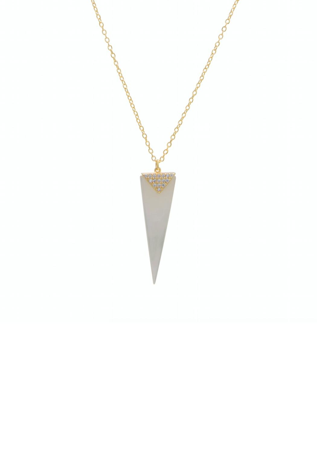 Gemma Collection Pearl Spike Necklace - Main Image