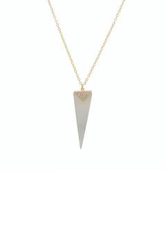 Shoptiques Product: Pearl Spike Necklace
