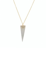 Gemma Collection Pearl Spike Necklace - Front cropped
