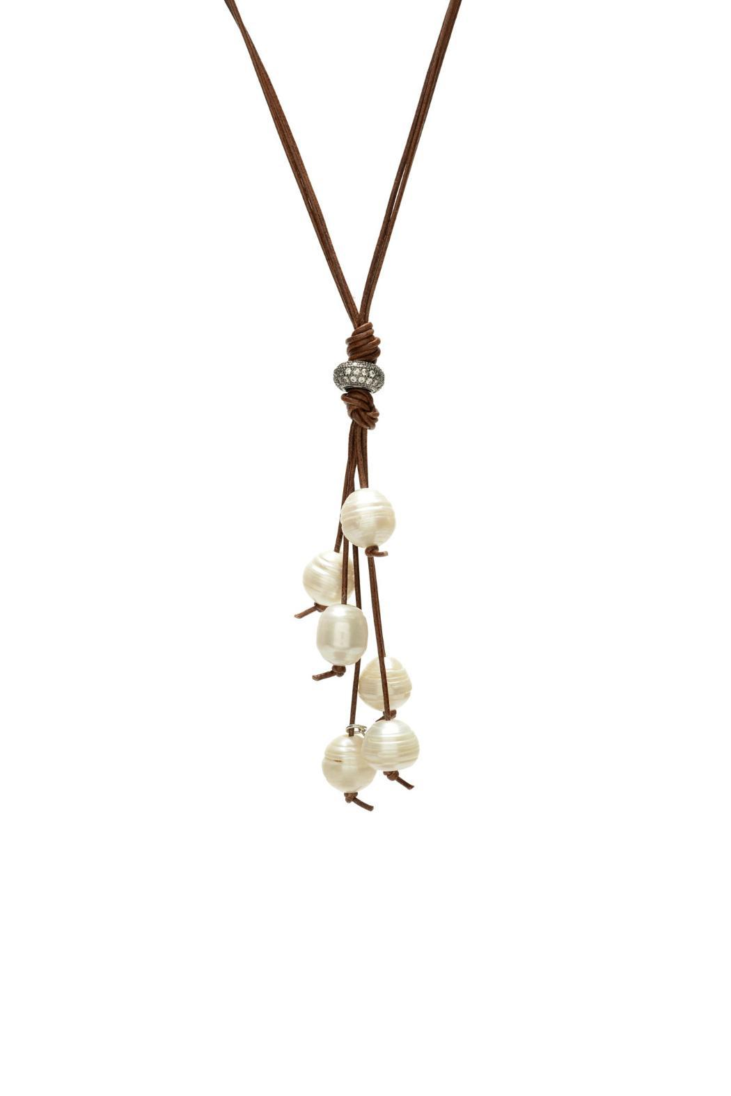 Gemma Collection Pearl Tassel Necklace - Main Image