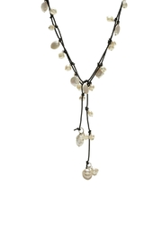 Gemma Collection Pearl Wrap Necklace - Front cropped