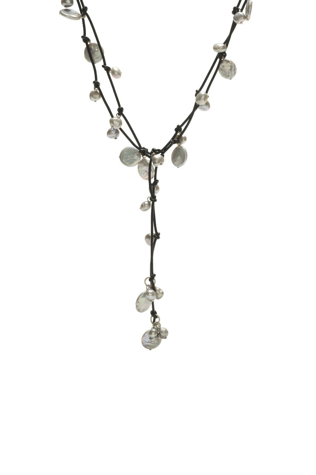 Gemma Collection Pearl Wrap Necklace - Front Cropped Image