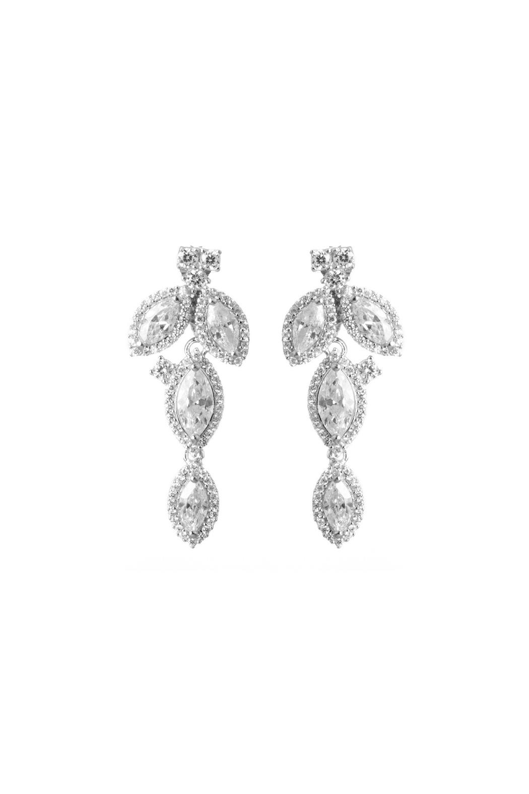 Gemma Collection Petal Drop Earrings - Front Cropped Image