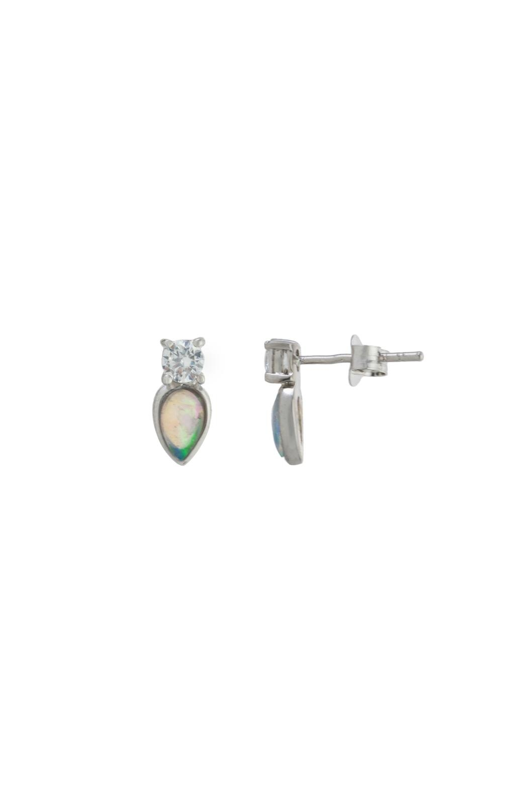Gemma Collection Petite Opal Studs - Main Image