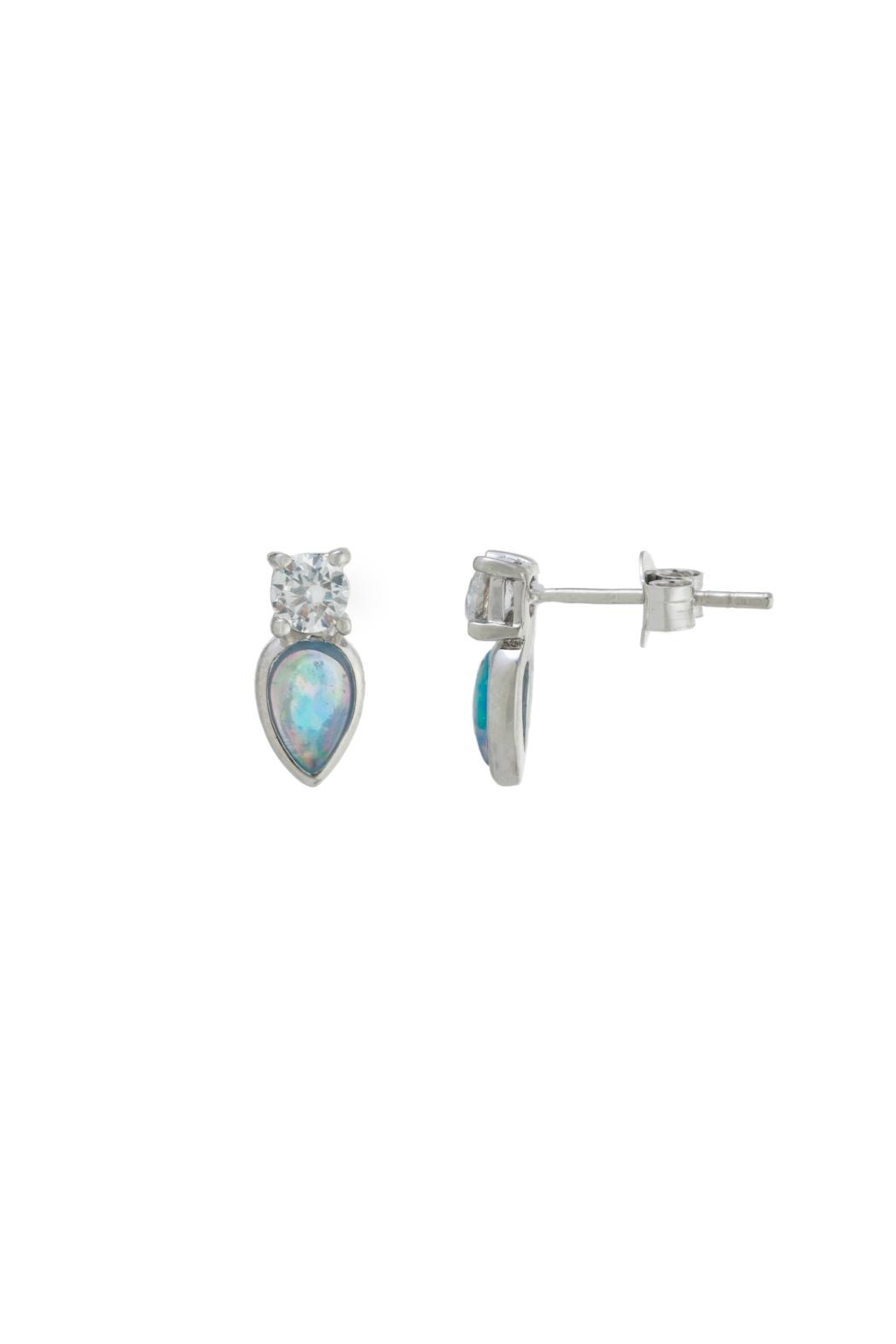 Gemma Collection Petite Opal Studs - Front Cropped Image