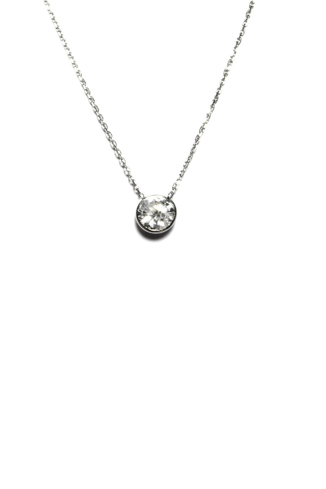 Gemma Collection Petite Solitaire Necklace - Main Image