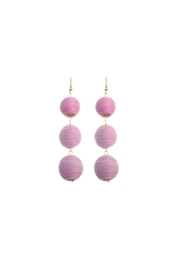 Gemma Collection Pink Ball Earrings - Product Mini Image