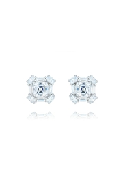 Gemma Collection Princess Cut Studs - Product Mini Image