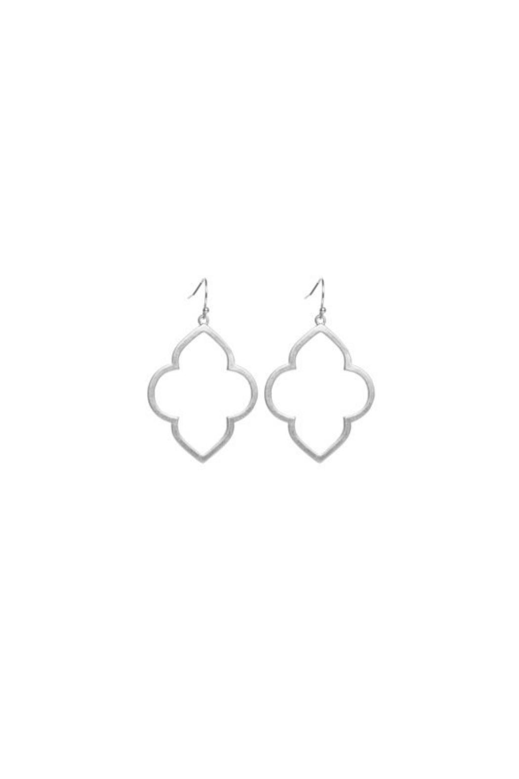 Gemma Collection Quatrefoil Earrings - Front Cropped Image
