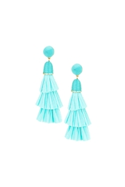 Gemma Collection Raffia Tassel Earrings - Product Mini Image