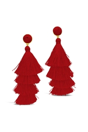 Gemma Collection Red Tassel Earrings - Product Mini Image