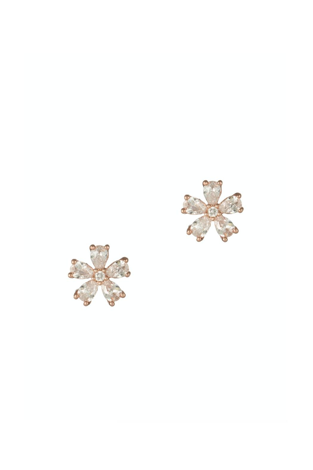 Gemma Collection Rose Flower Studs - Main Image