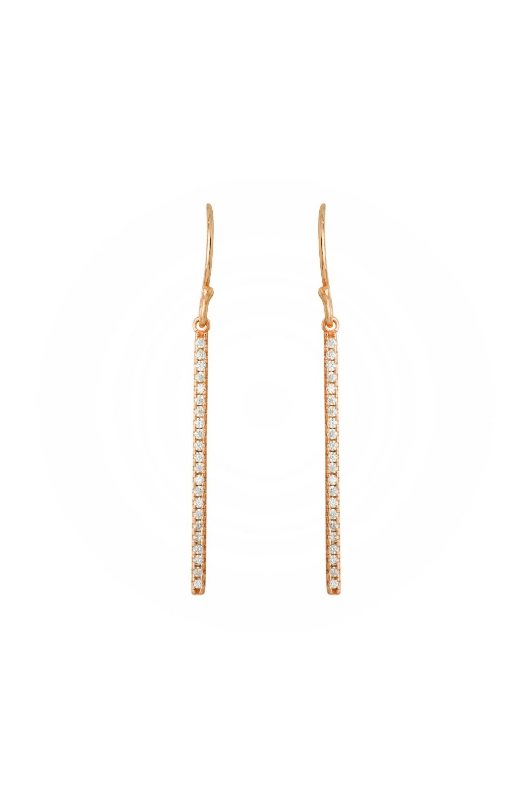 Gemma Collection Rose Gold Earrings - Main Image