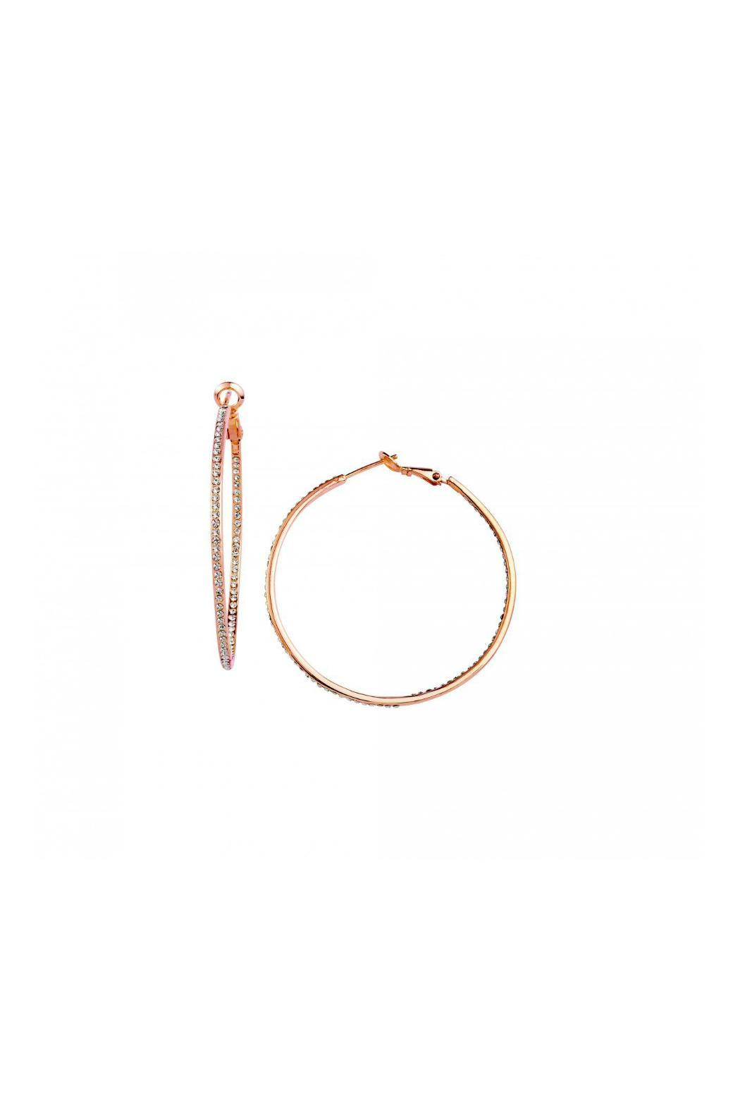 Gemma Collection Rose Gold Hoops - Main Image