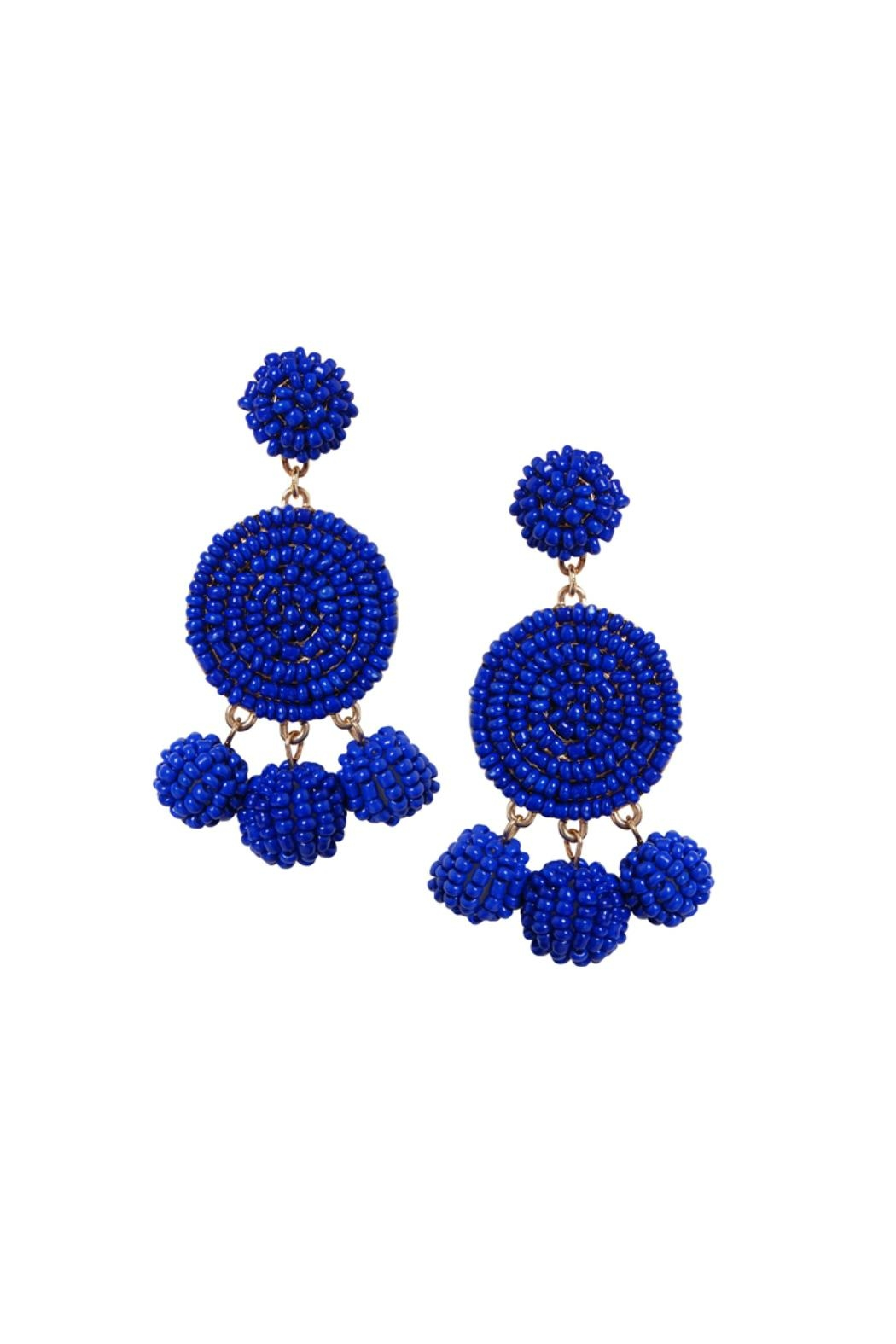Gemma Collection Royal Blue Earrings - Main Image