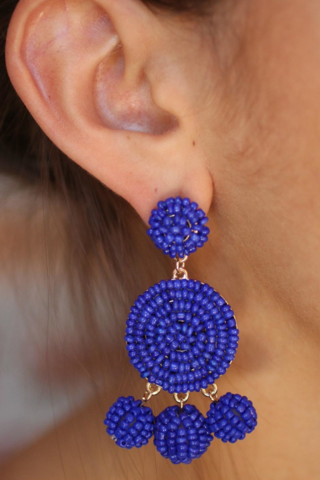 Gemma Collection Royal Blue Earrings - Front Full Image