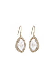 Gemma Collection Rutilated Quartz Earrings - Product Mini Image