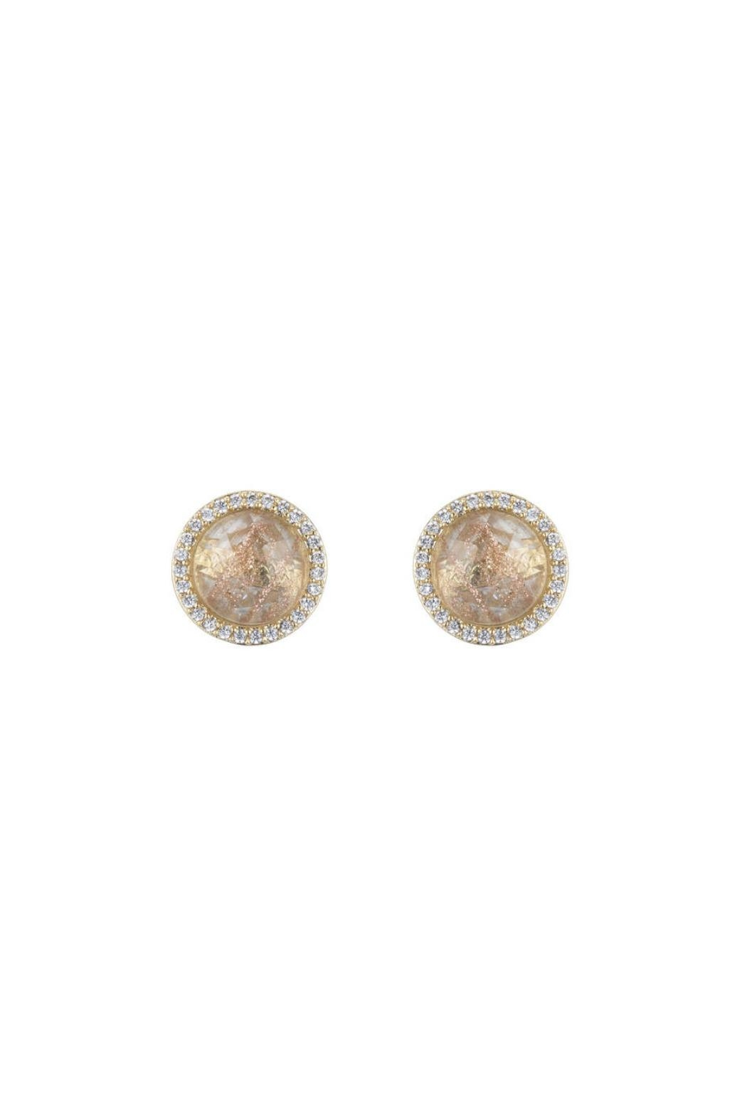 Gemma Collection Rutilated Quartz Studs - Front Cropped Image