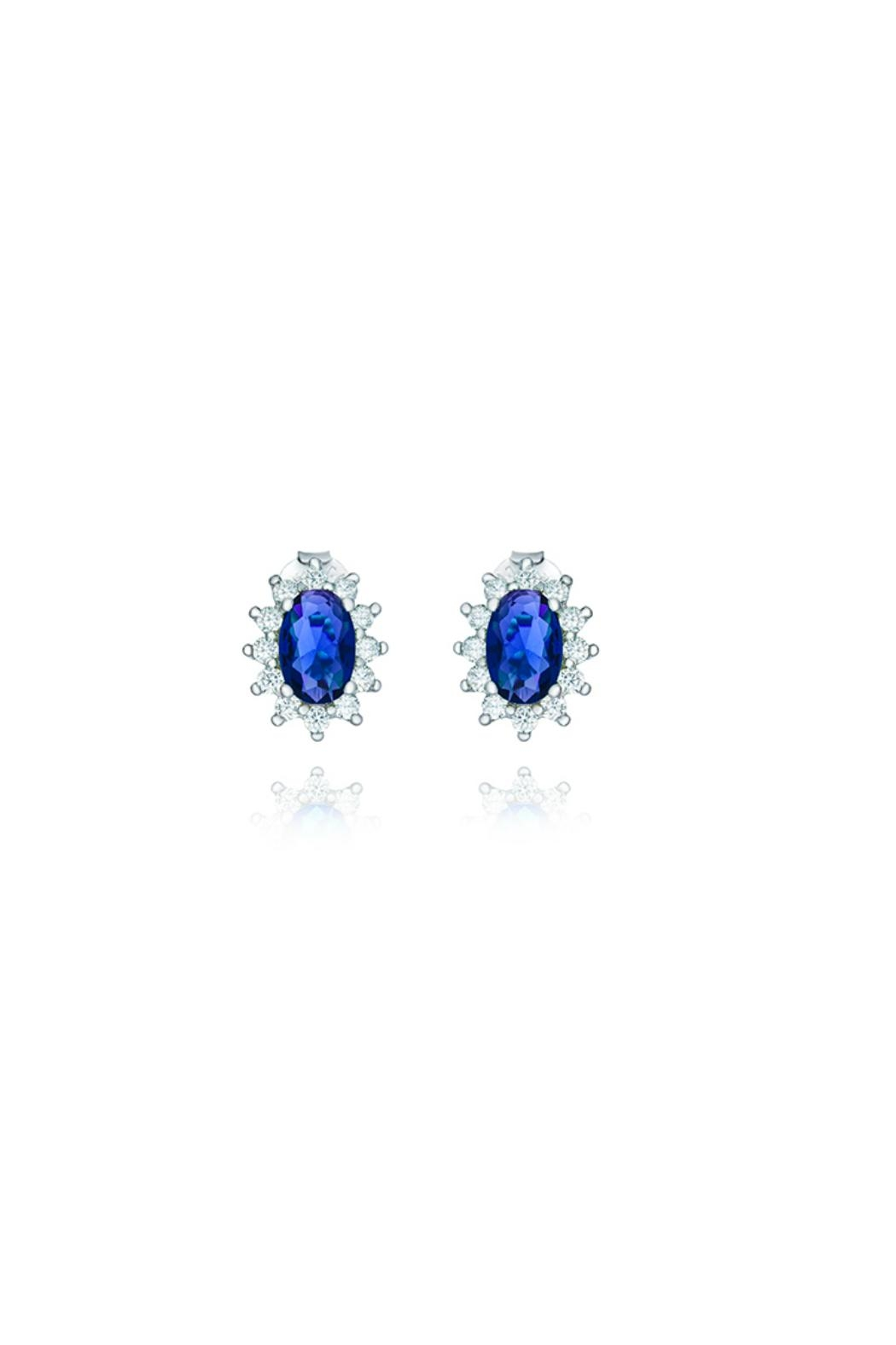 Gemma Collection Sapphire Pave Studs - Main Image