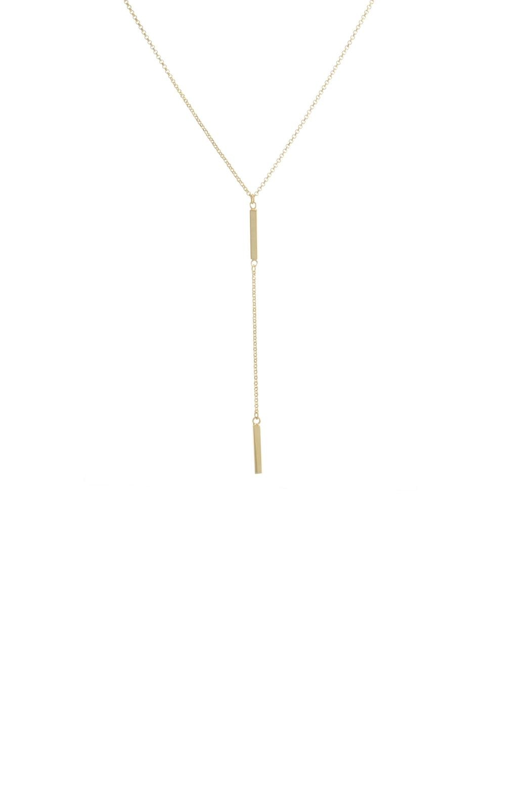 Gemma Collection Short Lariat Necklace - Main Image