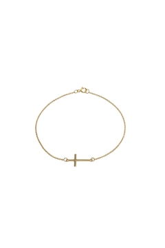 Shoptiques Product: Side Cross Bracelet