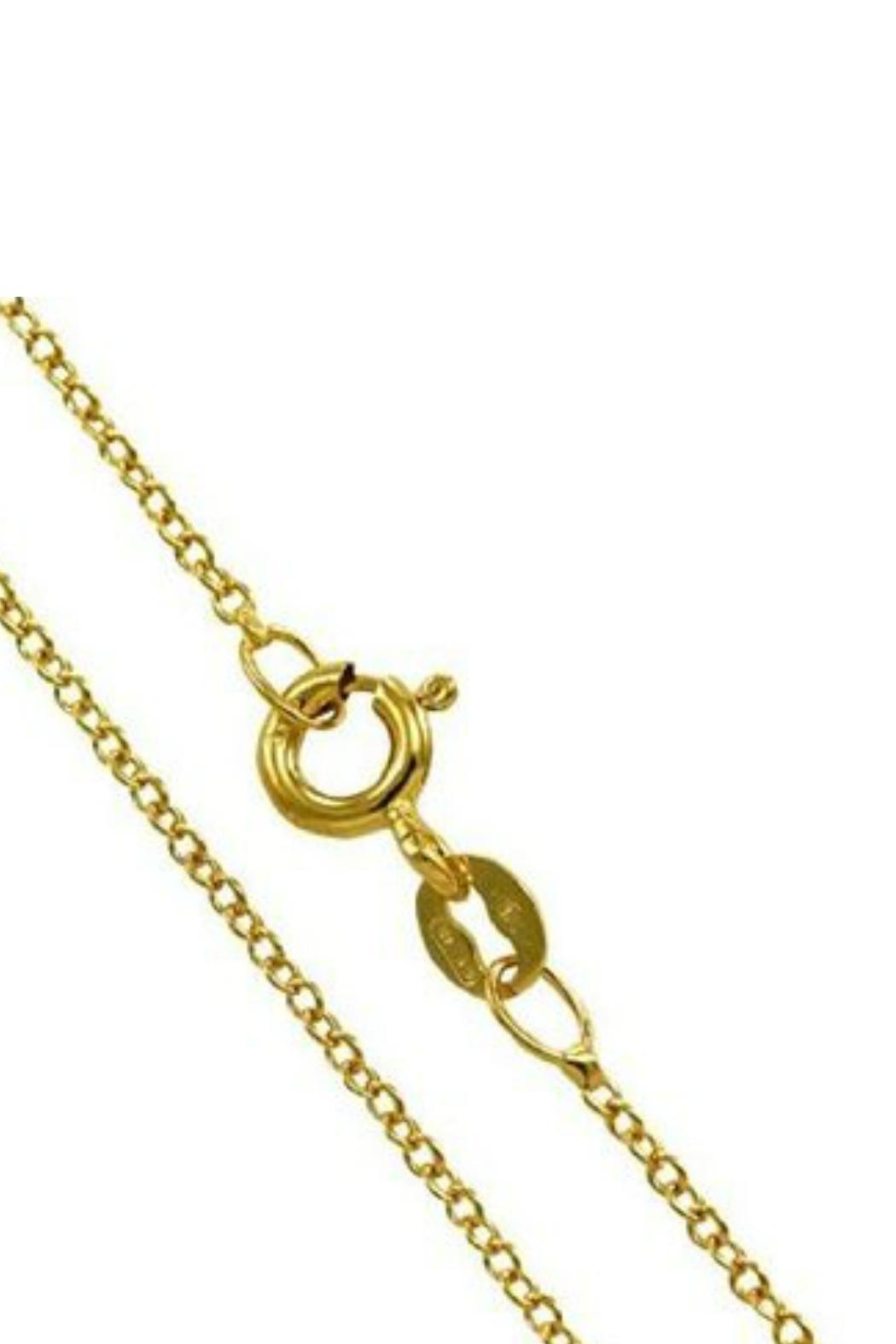 Gemma Collection Side Cross Necklace - Front Full Image