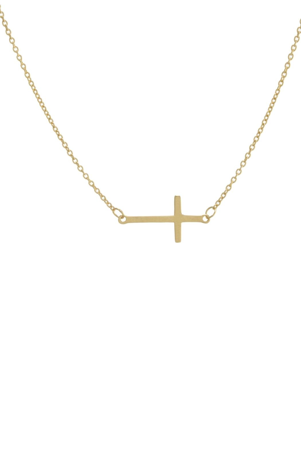 Gemma Collection Side Cross Necklace - Main Image