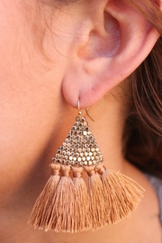 Gemma Collection Silk Tassel Earrings - Front cropped