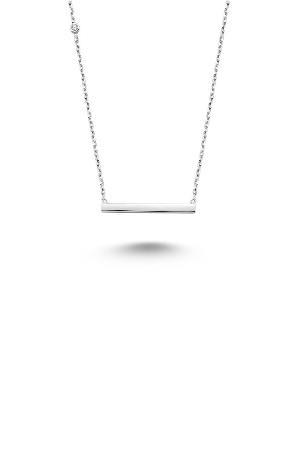 Gemma Collection Silver Bar Necklace - Main Image