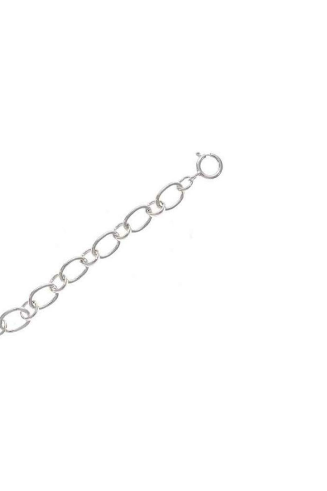 Gemma Collection Silver Bar Necklace - Front Full Image
