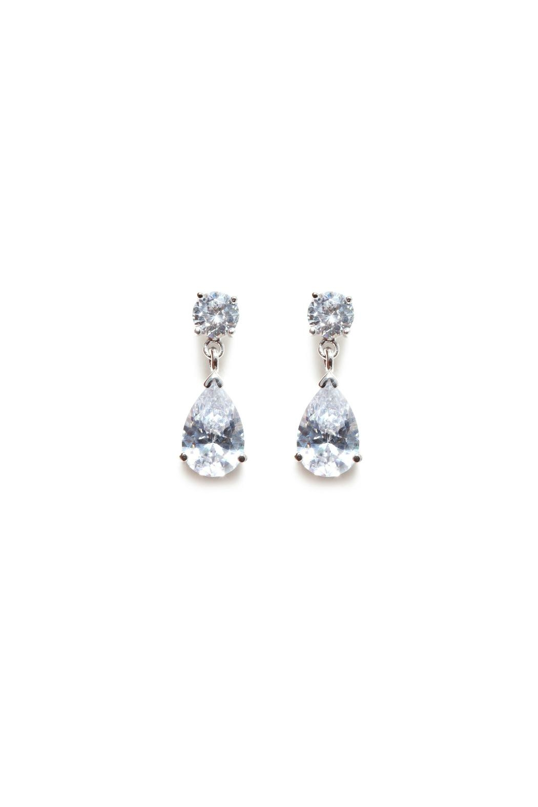 Gemma Collection Silver Drop Earrings - Main Image
